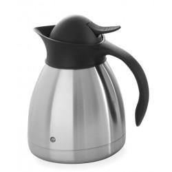 Thermoskan Hendi 1.0 liter met drukdop zwart