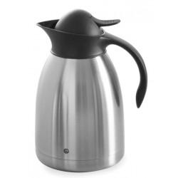 Thermoskan Hendi 1.5 liter met drukdop zwart
