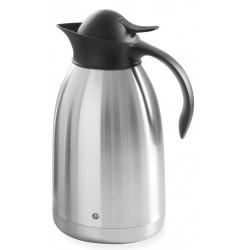 Thermoskan Hendi 2.0 liter met drukdop zwart