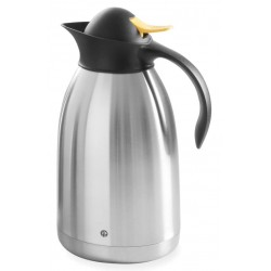 Thermoskan Hendi 2.0 liter met drukdop geel