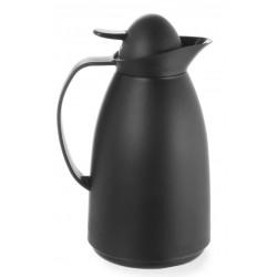 Thermoskan met glazen binnenfles 1 liter zwart