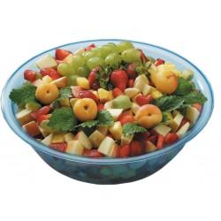 Saladeschaal blauw transparant