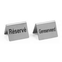Tafelstandaard ''Gereserveerd/ Réservé''