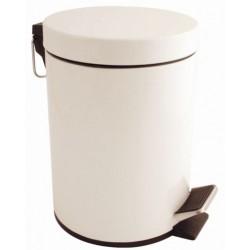 Witte pedaalemmer 5 liter