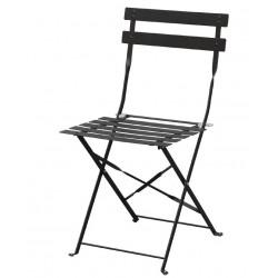 Bolero opklapbare stoel zwart 2 stuks