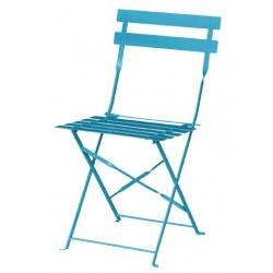 Bolero opklapbare stoel blauw 2 stuks