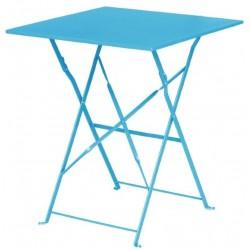 Bolero opklapbare vierkante tafel blauw