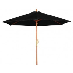 Ronde parasol Bolero Zwart 2,5 meter