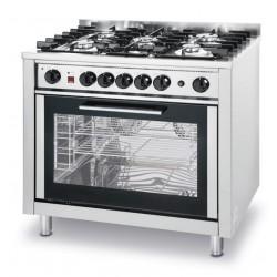 Gasfornuis - 5 pits met elektrische oven
