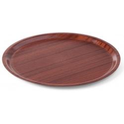 Dienblad Woodform rond, met lage rand